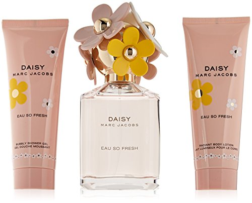 Marc Jacobs Daisy Eau So Fresh for Women 3 PC Set (2.5 Eau de Toilette /2.5 Body Lotion /2.5 Shower Gel)