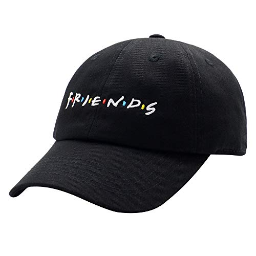 HSYZZY liujiangtao Dad Hat Finesse Friends Letters Embroidered Baseball Cap Adjustable Strapback Unisex Black