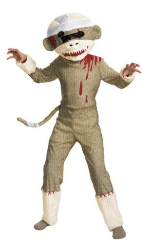 Boy Zombie Costume Ideas (Zombie Sock Monkey Costume - Medium by Disguise)