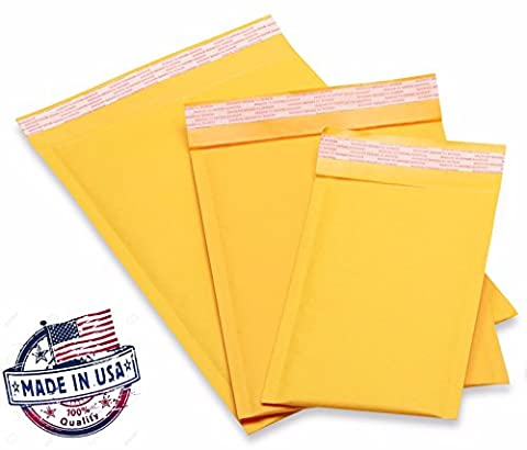 Kraft Bubble Mailers Padded Bubble Envelopes for Ebay Paypal Shipping Envelopes Sizes #0 #00 #000 #1 #2 #3 #4 #5 #6! (200 #2 - 8.5