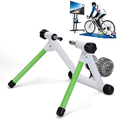 DPPAN Rodillo de Bicicleta, Entrenador de Bicicleta Bicicleta De Acero Plegable con Reducción De Ruido Rodillo de Entrenamiento Ajustable Rodillo De Bicicleta De Interior,Green: Amazon.es: Hogar