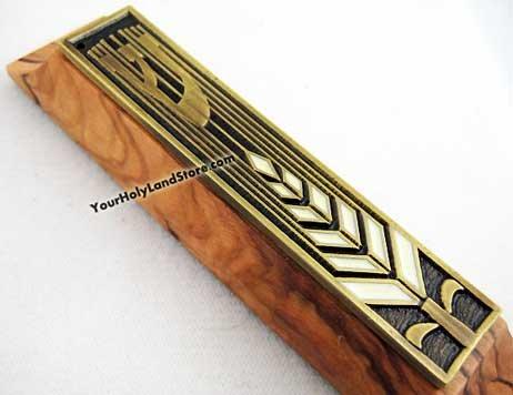 Yourholylandstore Olive Wood Mezuzah From Israel by YourHolyLandStore by YourHolyLandStore (Image #2)