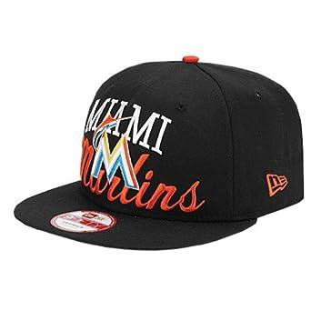 769d9f502 New Era Miami Marlins Arch Script Black Adjustable Snapback Hat/Cap ...
