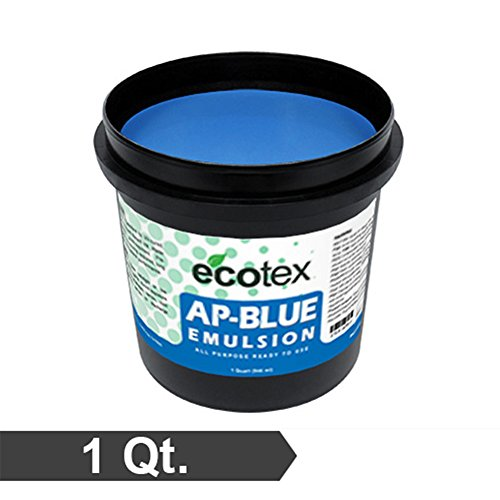 Price comparison product image Ecotex AP-BLUE - All Purpose Ready to Use Screen Printing Emulsion (1 Quart)