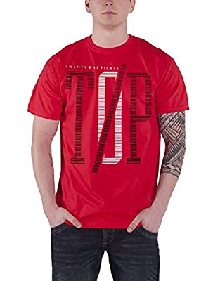 Twenty One Pilots 21 T Shirt Top Band Logo Clique Album Official Mens Red