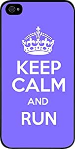 Keep Calm And Run-(Purple)-Hard Black Plastic Snap - On Case with Soft Black Rubber Lining-Apple Iphone 4 - 4s - Great Quality!