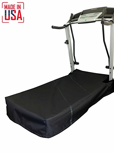 Equip, Inc. THE BEST Treadmill Platform/Belt Cover. Heavy Duty UV/Mold/Mildew/Water Resistant Fabric Cover Perfect for Indoor or Outdoor use. Made in USA with 3-Year Warranty. (Black, Extra (Platform Treadmill)