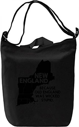 New England Borsa Giornaliera Canvas Canvas Day Bag| 100% Premium Cotton Canvas| DTG Printing|