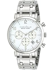 Caravelle New York by Bulova Mens 43B138 Analog Display Japanese Quartz White Watch