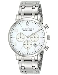 Bulova Caravelle New York  Men's 43B138 Analog Display Japanese Quartz White Watch