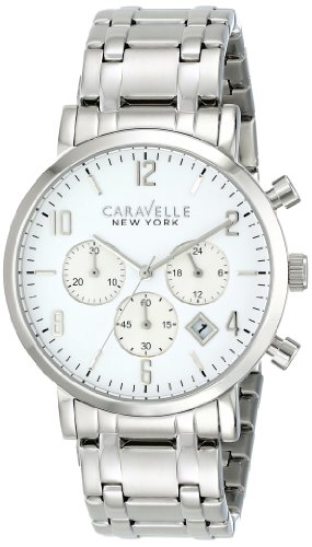 Caravelle New York by Bulova Men's 43B138 Analog Display Japanese Quartz White Watch