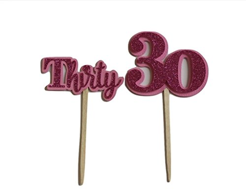 nk Thirty Cupcake Toppers, Set of 12 ()