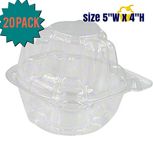 Individual Plastic Cupcake Boxes-Cupcake Containers,Cupcake Holders With Improved Closing Mechanism