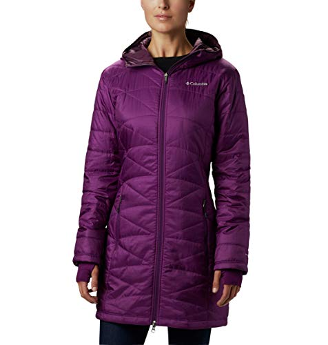 Columbia Women's Mighty Lite Hooded Jacket, Wild Iris, Small