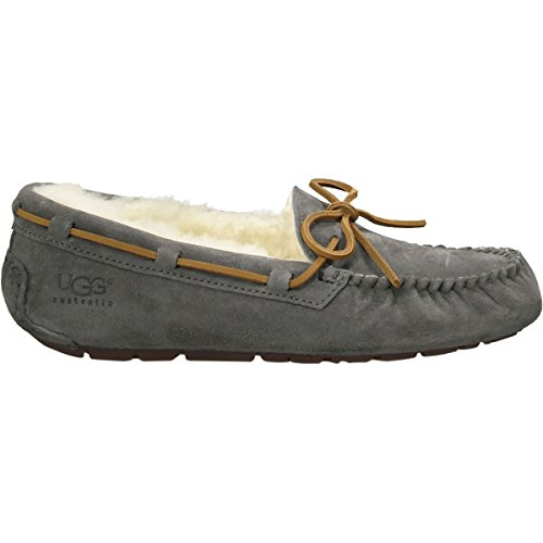 UGG Women's Dakota Leather Pewter Ankle-High Suede Slipper - 7M