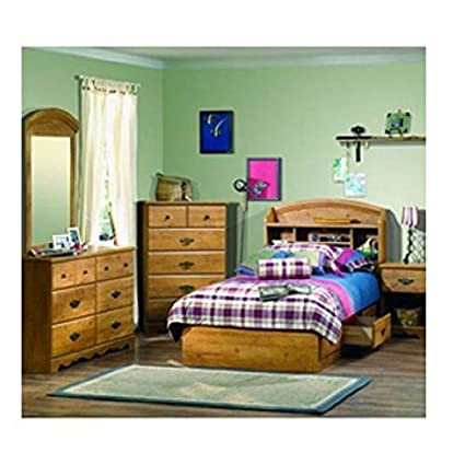 Amazon.com - Twin Size Arched Bookcase Headboard in Country ...
