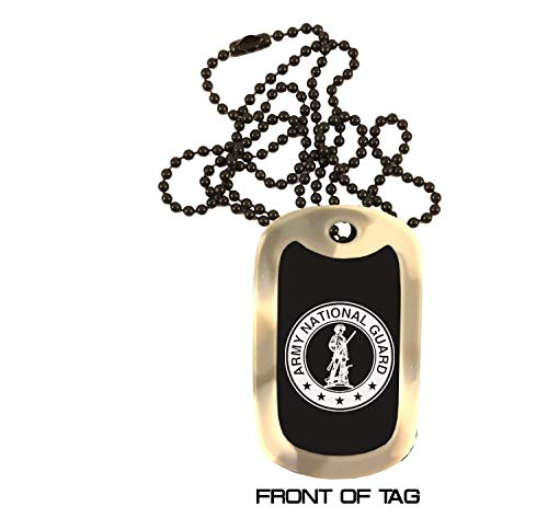 Army National Guard - Custom Military Dog Tags - Personalized Engraved Colored Anodized Aluminum Dog Tag Necklace Deployment Boot Camp