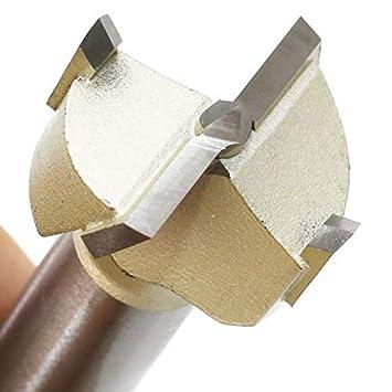 pl/ástico 1 unidad Brocas para sierra de carpinter/ía con broca perforadora para madera madera contrachapada de 15 a 60 mm Forstner plateado