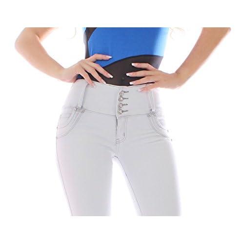 FARINA®1637 Pantalon vaquero de mujer 208923aa7ff1