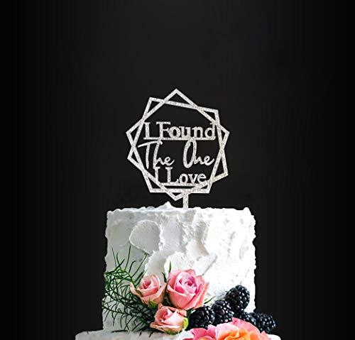 (I Found The One I Love Cake Topper, Bridal Shower Cake Topper, Wedding/Engagement/Anniversary Cake Topper, Religious Cake Topper)