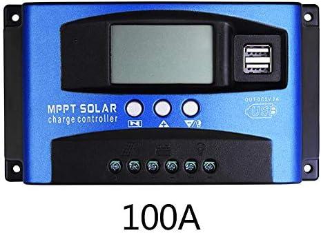Adminitto88 Solarladeregler 30-100A Solarpanel-Regler Batterieladeregler Mit Autofokusstrom Hocheffizienter Ladevorgang Mit Zwei USB-Ausgängen (12 V Und 24 V)