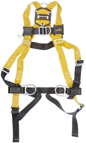 Polyester Universal Vest Style Harness (Miller Titan by Honeywell TF4007FD/UAK Polyester T-Flex Stretchable Harness with Front D-Ring Vest-Style, Universal)