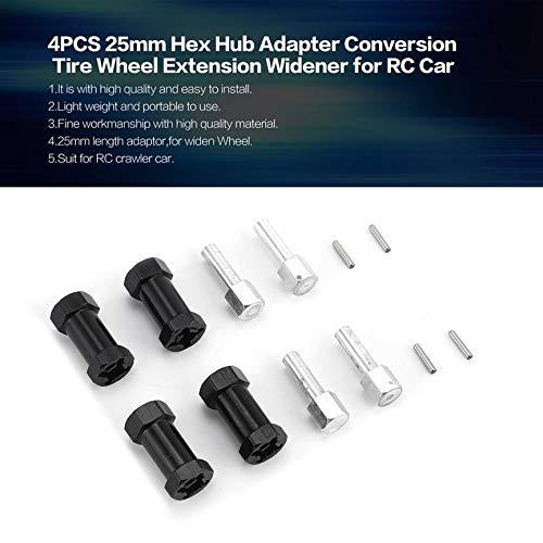 Peanutaod 4 ST/ÜCKE 25mm Rad Hex Hub Adapter Conversion Reifen Radverl/ängerung Spacer Verbreiterungen f/ür RC Auto Modifikation Teile Zubeh/ör