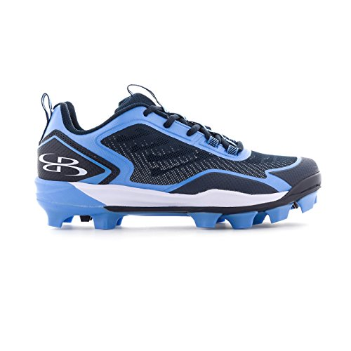 - Boombah Men's Berzerk Molded Cleats Navy/Columbia Blue - Size 6.5