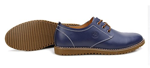 Aisun Mens Comodi Oxfords Blu