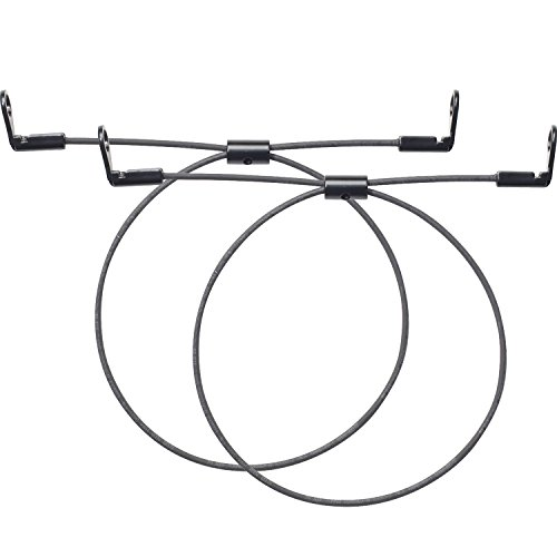 "WALI TV Anti-Tip Heavy Duty Dual Solid Steel Cable Kit for Safety Protection Fit Most Flat Screen TVs up to 65"" and Furniture Mounting (TAS002) - Steel Furniture Cable"