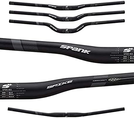 New Spank Spike Race Vibrocore Bars 800mm Wide 50mm Rise 31.8mm Clamp Black