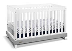 With a simple modern design and beautiful two-tone finish, The Graco Maddox 3-in-1 Crib is the perfect choice for any nursery. The Maddox is a low profile crib that provides easy access to your baby while adding style to your baby's room. The...
