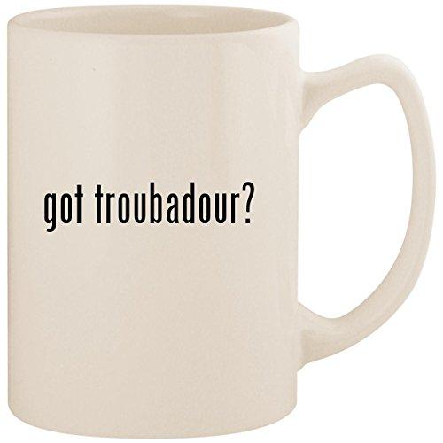got troubadour? - White 14oz Ceramic Statesman Coffee Mug Cup