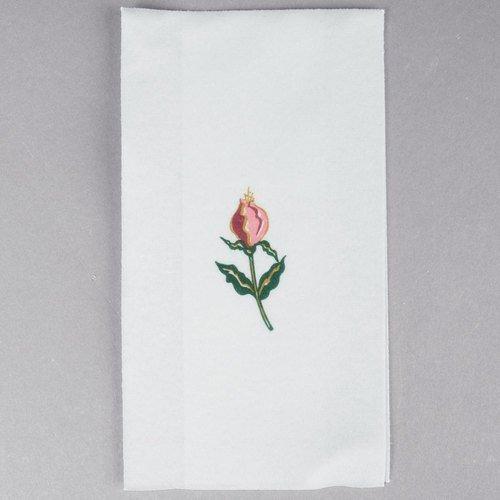"Hoffmaster 856515 Linen-Like Guest Towel, 1/6 Fold, 17"" Length x 12"" Width, Floral Mist (Case of 500)"