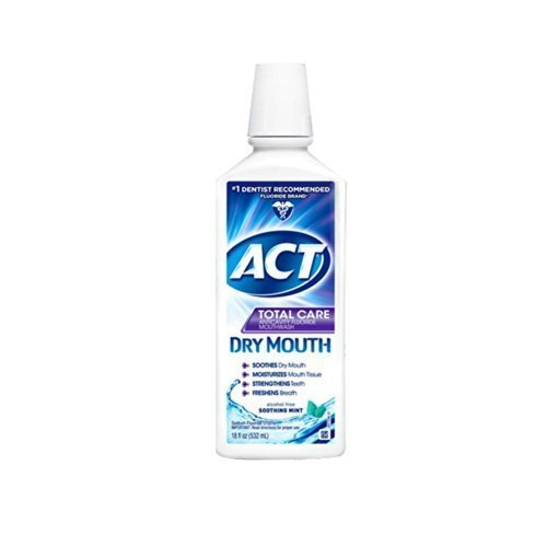 ACT Total Care Dry Soothing Mouthwash, Mint, 18 Ounce (Pack of 3) by ACT