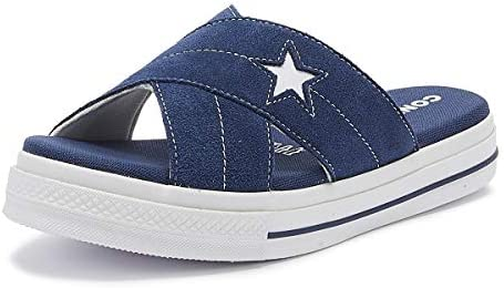Converse One Star Womens NavyWhite Suede Slip Sandals UK 4
