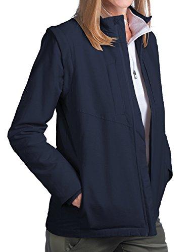 SCOTTeVEST Women's Standard Jacket - 25 Pockets - Travel Clothing (Large, Navy) by SCOTTeVEST