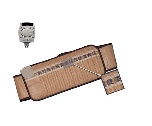 """Portable Dry-Sauna. Far Infrared Amethyst Mat for Back, Neck, Shoulder, & Knee by Crystal Rays. Regular Size 1~ Includes Belt to fit Clothed Waist 25""""-37'' by BioAnue"""