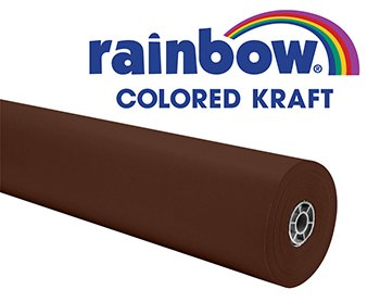 Rainbow Duo-Finish Fiber Light-Weight Kraft Paper Roll, 40 lb, 36 in X 100 ft, Brown