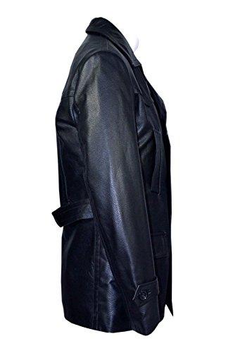 Mann Deutsch Marine ZWEIREIHIGER DR- WHO VERSCHLEISSFEST KUHFELL Echt leder jacket