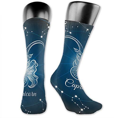 SARA NELL Men & Women Classics Crew Socks Zodiac Capricorn Sign Thick Warm Cotton Crew Winter Socks Personalized Gift Socks