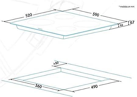 Edesa EVT-6421 R Integrado Cerámico Negro - Placa (Integrado ...