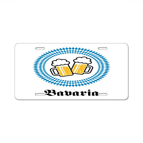 "Rchengqush Bavaria Beer License Plate Decorative Front Plate 6"" X 12"""