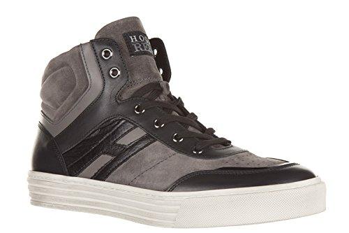 Hogan Rebel zapatos zapatillas de deporte largas hombres en ante nuevo r206 mid