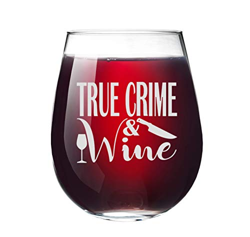 True Crime & Wine Glass Tumbler