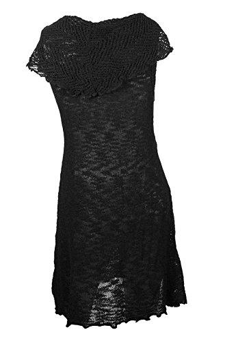 Womens Ladies Signature Casual Senza maniche Cappuccio Collo dettagliate maglia tunica Dress