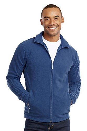 Men's Polar Fleece Zip up Jacket (M, Denim) by Knocker