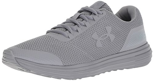 Under Armour Women's Surge Running Shoe, (103)/Steel, 8