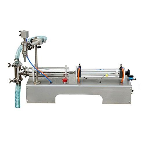 Pneumatic Liquid Filling Machine 100ml-1000ml Volume, Lolicute Semi-Automatic Liquid Filler Single Nozzles for Shampoo, Oil, Water, Perfume 110V by Lolicute (Image #1)