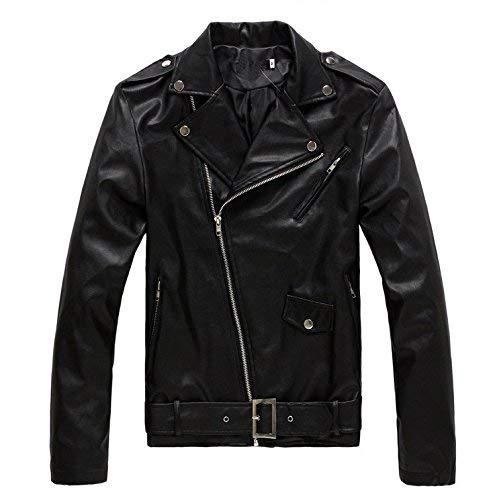 Black Maniche Slim Lunghe Risvoltini Similpelle In Giacca Pelle Moda Con Ragazzo 1 Cappotto Uomo nZ0nFUgq7